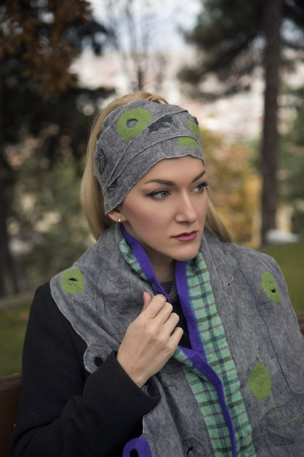 hand-crafted wool scarf