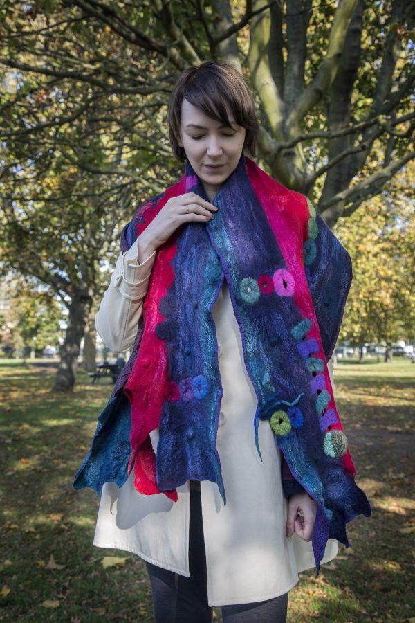 bombyxmori wearable art - scarf