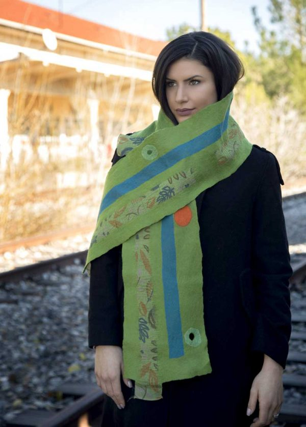 bombyxmori hand made scarf - gallery
